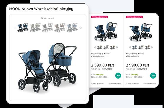 warianty produktów - babyland - sklep internetowy